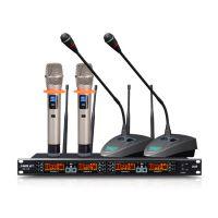 会议话筒U段无线话筒SH10一拖四无线麦克风套装 主机2手持2鹅颈