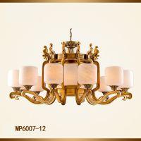 中式云石吊灯 中式全铜灯 新中式灯具定做