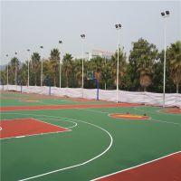 中山小区丙烯酸篮球场施工 操场彩色地面翻新 柏克塑胶球场材料批发