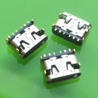 过5A大电流(6IN)TYPE-C母座【板上型卧式cf+6P-SMT】 充电专用TYPE-C母座