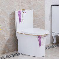 新款节水彩色马桶简约中式卫浴陶瓷虹吸式座便器