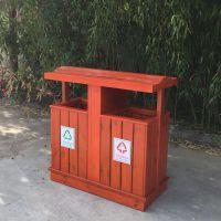 新款木质果皮箱 分类垃圾桶 海硕定制款 HS-MZ-03