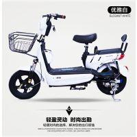 新款电动自行车小型成人两轮电瓶车双人男女脚踏代步车厂家招代理