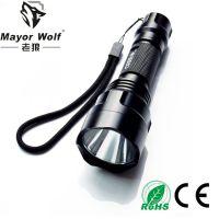 供应led强光手电筒 铝合金充电手电筒OEM OED