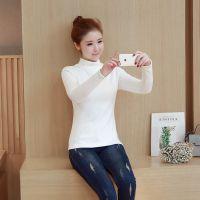 韩版女式T恤外套针织衫打底衫流行男女装衬衫批发