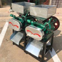 大豆专用挤扁机对辊式家用粮食作坊式挤扁机