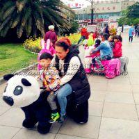 广场乐园公园商场大人可坐儿童毛绒动物电动玩具车游乐设备