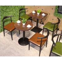 倍斯特定制简约现代仿木牛角椅创意火锅中餐快餐