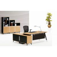 供应简约大气老板桌定做 江西办公桌椅组合 南昌板式大班台 主管桌办公家具厂家