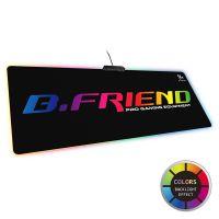 供应B.FRIENDit壁虎忍者MP07电脑电竞防滑加厚RGB炫光发光超大鼠标垫
