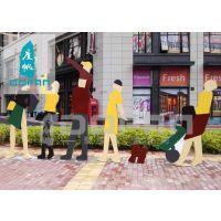 度帆广场玻璃钢人物雕塑 户外雕塑定做商业街雕塑摆件人物雕塑