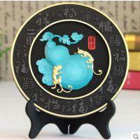 乔迁礼物创意实用中国风炭雕现代中式家居电视柜隔断酒架小摆件葫芦