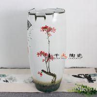 景德镇手绘陶瓷花瓶批发工艺品摆件花瓶图片 千火陶瓷