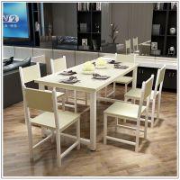 现代简约客厅餐桌椅组合简易饭桌家用长方形桌子定制一件代发
