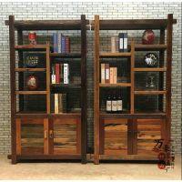 万豪船木家具特价博古架实木架子客厅隔断架子置物架古董架书架
