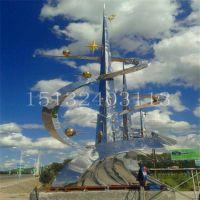 不锈钢城市雕塑广场公园金属雕塑景观造型厂家定做