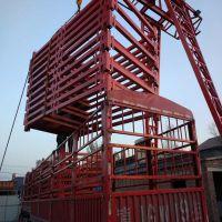 宏盛桥梁施工安全爬梯安全防护网梯笼组合框架箱式梯笼