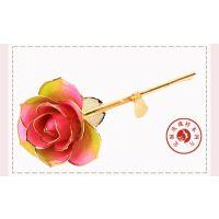 黛雅DAYA ROSE金玫瑰 供应商13405828471 家居摆件 金叶子定制款彩虹色