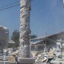 文化广场石柱,石雕龙柱订购厂家--顺利石雕厂