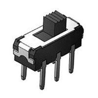 硕方 MVS1250 立式插件两档六脚微型滑动拨动开关