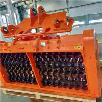 山东厂家 卡特336挖机适配筛分、破碎、混合等功能的筛分铲斗