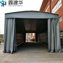 南浔县大型风移动式雨棚布厂家-工厂仓库遮阳蓬效果图-鑫元华篷业