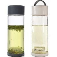 正品富光玻璃杯超大容量单层透明水杯带提手创意密封防漏有盖耐热