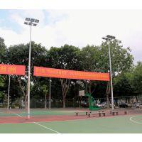 汕头校园一节式灯杆定做 村委会篮球场照明灯杆价格 柏克球场灯具批发