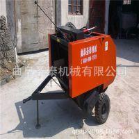 供应50*80行走式打捆机 20马力拖拉机带动圆捆机