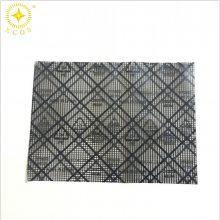 成都防静电网格导电袋(透明抗静电、表面黑色网状)采用材质(抗静电PE薄膜和印刷黑色网状导电油墨制成)