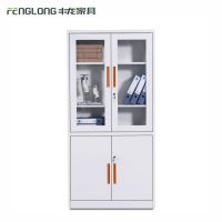 厂家直销钢制文件柜玻璃门带锁办公柜子档案铁皮柜定制铁皮储物柜