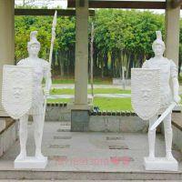 园林景观人物雕像 欧式武士将军砂岩玻璃钢雕塑