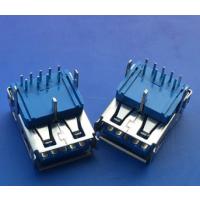 A母3.0加高USB 90度插板3.0母座三脚插板DIP 有卷边 直边9P针