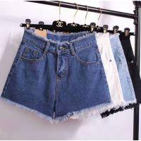女装夏季牛仔短裤素度时尚欧美百搭磨白多码多款式义乌厂家直销一手货源批发