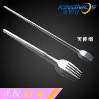 KINGNICE工厂直销创意可伸缩不锈钢餐叉餐具 加厚品质出口过FDA测试餐刀西餐套装