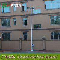 云南混明市学校篮球场的灯杆 国际标准尺寸的电灯柱厂家直销 柏克专业生产10灯杆