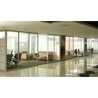 办公室铝合金隔断 室内玻璃屏风定制