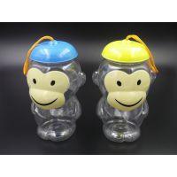 PET 彩色 卡通 儿童(猴)一次性礼品 食品罐 手提 干果 糖果盒