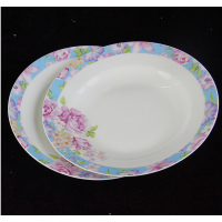 奥美 批发陶瓷8寸盘子 骨质瓷汤盘 家用菜盘 酒店餐厅用盘子