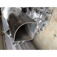 佛山钢厂定制304不锈钢扇形管、旋转玻璃门专业不锈钢扇形管