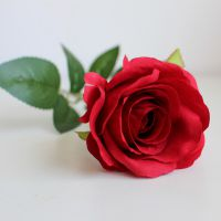 厂家直销欧式单支玫瑰仿真花假花摆件绢花客厅装饰花摆设婚庆路引