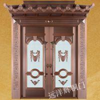 纯铜双开入户铜门 防铜门 不锈钢铜门 智能防盗门 北京地区免费测量安装.