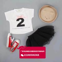 阿里巴巴精品童装批发厂家一手货源便宜有好看童装短袖T恤套装批发货到付款童装批发网