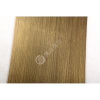 长期供应高档304#无指纹拉丝青古铜蚀刻木纹不锈钢板