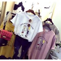 国内女装货源百搭简约爆款纯棉拉架T恤真正一手货源批发AIMEEWQ