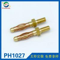 4.0mm镀镍香蕉插头 带螺纹香蕉插头航模插头音响电机插头