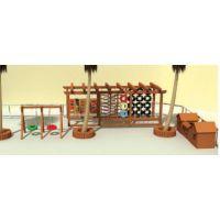 户外进口实木玩具 体能组合 桌椅