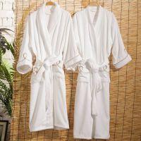 广州厂家专业定制高档酒店浴袍、高品质超细纤维双面绒浴袍刺绣LOGO