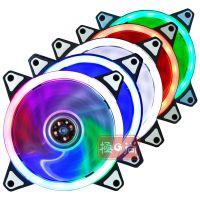 台式电脑机箱风扇 12CM厘米多色静音LED彩灯发光炫酷RGB散热风扇
