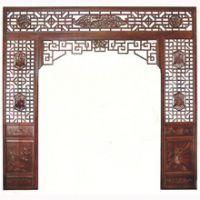 惠森古建提供定制中式仿古家装装饰实木背景墙